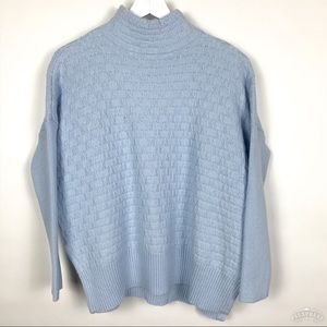 Vince Camuto Weave Knit Mock Turtle Neck Sweater